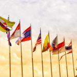 ASEAN Mitglieder Flaggen